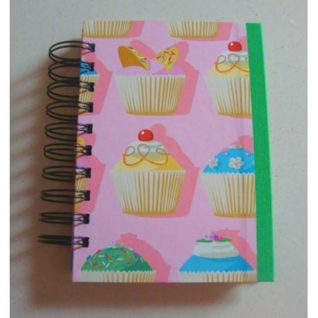 Cuaderno de recetas Cupcakes Rosa