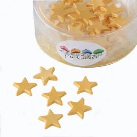 Estrellas comestibles. Color dorado