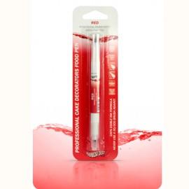 Rotulador de tinta comestible Rainbow Dust. Color Rojo