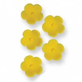 Flores de azúcar. Color Amarillo. 30 uds