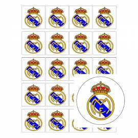 Escudo de fútbol Real Madrid - Impresiones en papel de azúcar