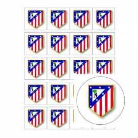Escudo de fútbol atletico Madrid- Impresiones en papel de azúcar