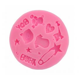 Molde de silicona motivos Bebé