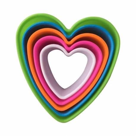 Set 5 Cortadores en forma de Corazón.