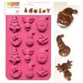 Molde de silicona para chocolates Navidad