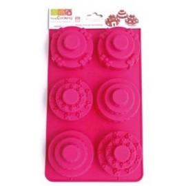 Molde de silicona 6 Mini Tartas